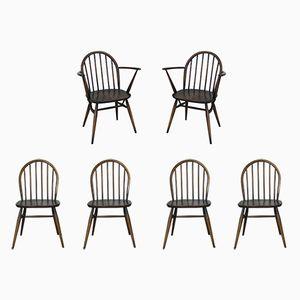 No. 370 Windsor Esszimmerstühle von Lucian Ercolani für Ercol, 1960er, 6er Set