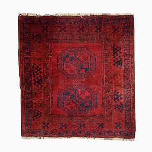 Antique Handmade Afghan Ersari Rug, 1900s
