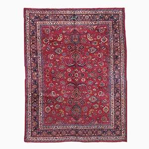 Antique Handmade Persian Mashad Rug, 1910s