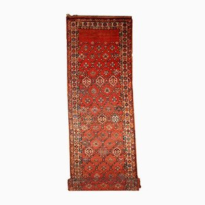 Antique Handmade Persian Kurdish Runner, 1900s