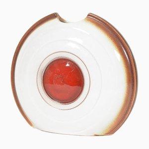 Czech Ceramic Vase from Kravsko, 1979