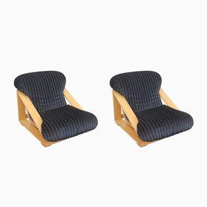 Vintage Eschenholz Sessel von Stilwood, 2er Set