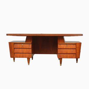 Large Italian Walnut Desk, 1950s