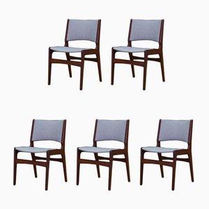 Dänische Vintage Teak Stühle von Johannes Andersen, 5er Set