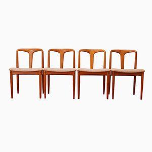 Chaises de Salon Juliane en Teck par Johannes Andersen pour Uldum Møbelfabrik, Danemark, 1960s, Set de 4