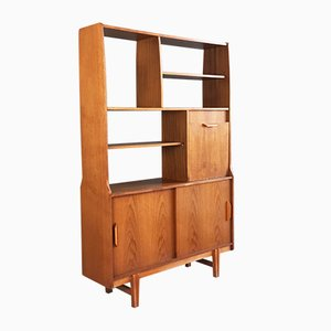 Mid-Century Freestanding Wall Unit with Illuminated Cupboard from Stonehill