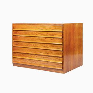 Schrank mi Holz Furnier, 1960er