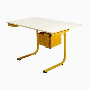 School Desk with Reclining Top by Anna Anselmi for Bieffeplast, 1970s