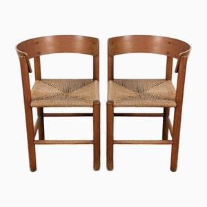 Chaises Vintage par Mogens Lassen pour Fritz Hansen, Set de 2