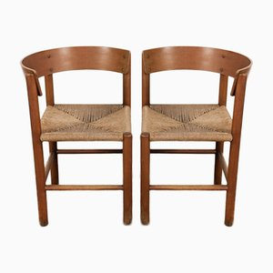 Vintage Chairs by Mogens Lassen for Fritz Hansen, Set of 2