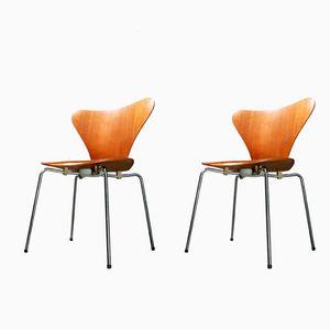 Chaise 3107 en Teck par Arne Jacobsen pour Fritz Hansen, 1970
