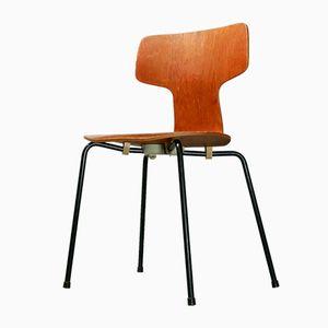 Chaise 3103 en Teck par Arne Jacobsen pour Fritz Hansen, 1967