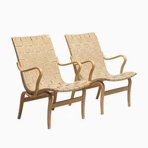 Vintage Eva Chairs by Bruno Mathsson for Firma Karl Mathsson, Set of 2