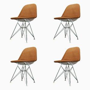 Chaises Wire Vintage par Charles & Ray Eames pour Contura, Set de 4