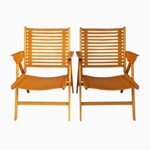 Vintage Foldable Rex Chairs by Niko Kralj for Stol, Set of 2