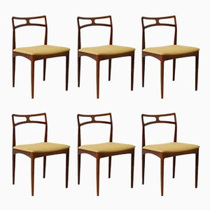 Vintage Rosewood Chairs by Johannes Andersen for Christian Linneberg, Set of 6