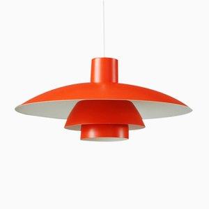 Orangenfarbene Vintage PH4/3 Hängelampe von Poul Henningsen für Louis Poulsen