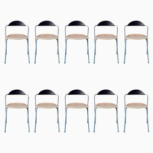 Chairs by Vico Magistretti for Fritz Hansen, Set of 10