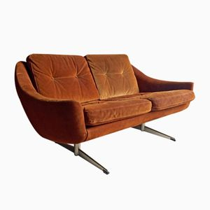 Mid-Century Danish Suede Sofa by Aage Christiansen for Eran Mobler