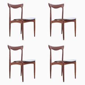 Mid-Century Scandinavian Teak Chairs by Henry Walter Klein, Set of 4
