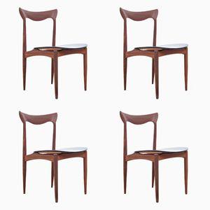 Skandinavische Mid-Century Teak Stühle von Henry Walter Klein, 4er Set