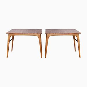 Vintage Side Tables in Teak, Set of 2