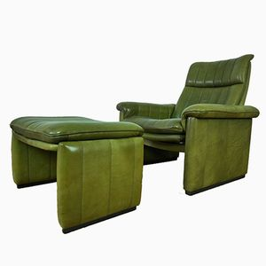 Lounge Chair and Ottoman from de Sede, 1970s