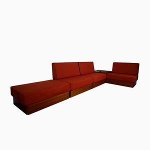 Modulares Vintage Studioline Furnier Sofa Set von Verner Panton für France & Son