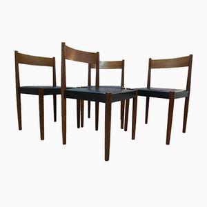 Mid-Century Teak Stühle von Poul Volther für Frem Rojle, 4er Set