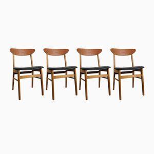 Mid-Century Monaco Stühle von Ikea, 4er Set