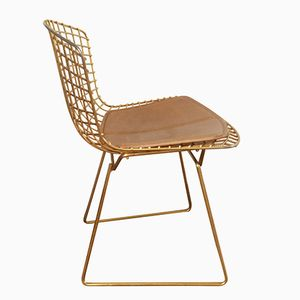 Vintage Golden Wire Chair by Harry Bertoia for Knoll