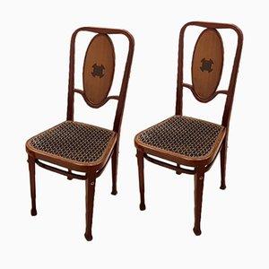 414 Wiener Secession Stühle von Marcel Kammerer für Thonet, 1910er, 2er Set