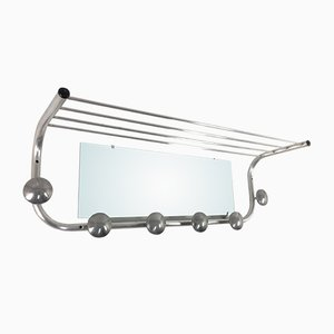 French Coat Rack with Mirror, 1950s
