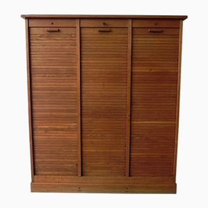Vintage Oak Shutter Cupboard with 3 Doors
