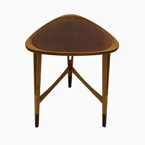 Swedish Triangle Shaped Side Table, 1940s