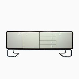 Sideboard aus Palisander mit Weißen Türen & Chromfüßen, 1970er