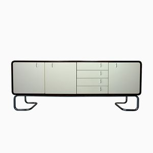 Sideboard in Palisander with White Doors and Chrome Frame, 1970s