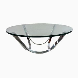 Glass Table by Roger Sprunger for Dunbar, 1970s