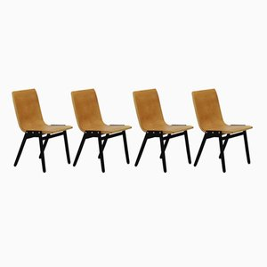 Mid-Century Stacking Chairs by Roland Rainer, Set of 4
