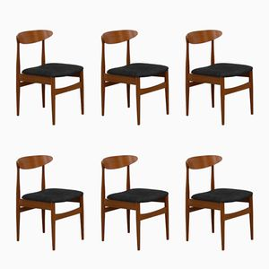 Danish Vintage Teak Chairs, Set of 6