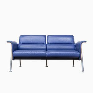Avera 2-Sitzer Sofa aus Birke & Leder von Wiege, Frenkler, Kolberg & Birkenheuer für Wilkhahn, 1992