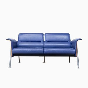 Avera Birch & Leather 2-Seater Sofa by Wiege, Frenkler, Kolberg, & Birkenheuer for Wilkhahn, 1992