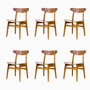 CH-30 Dining Chairs by Hans J. Wegner for Carl Hansen & Son, 1950s, Set of 6