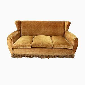 Mid-Century Italian Three-Seater Sofa from Poltrona Frau
