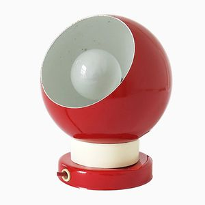 Lampada vintage sferica rossa in metallo di BA, Danimarca