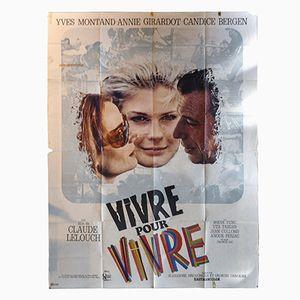 Vivre pour Vivre Film Poster, 1960s