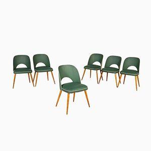 Stühle aus Skai Kunstleder & Buche, 1950er, 6er Set