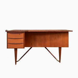 Teak Boomerang Desk by Peter Lvig Nielsen, 1950s