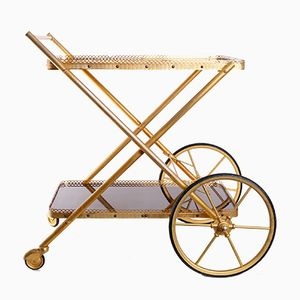 Brass Trolley with Large Wheels, 1970s