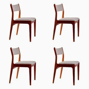Dänische Mid-Century Teak Stühle, 4er Set